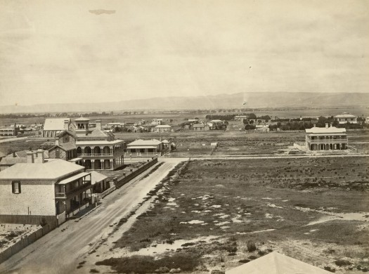 Essenside (rear view) - taken from the Family Hotel looking east - photo c 1878 - State Library of South Australia B 9449